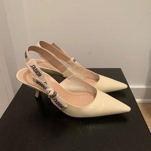 Dior white heels